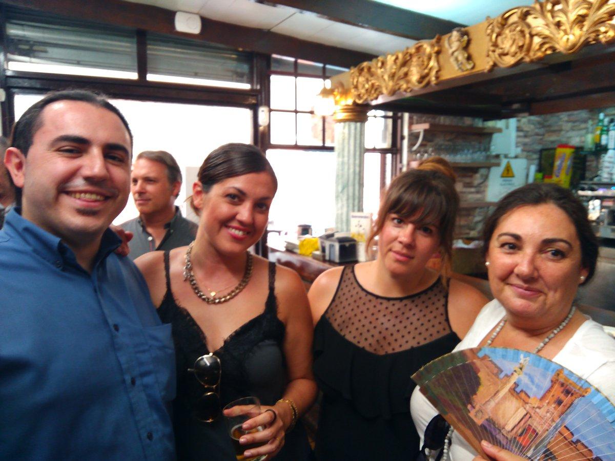 Club Qué Happy Eduardo Torres, Fátima Japón, Sandra Cañas, Teresa Gómez