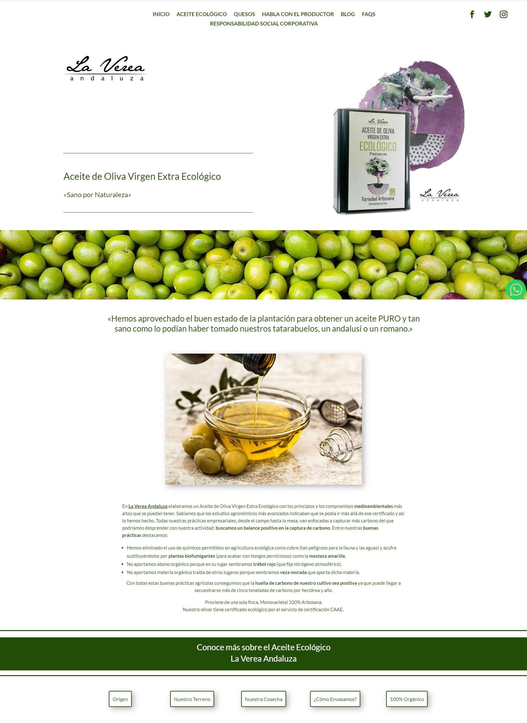 Diseño Web para Productor de Aceite Ecológico