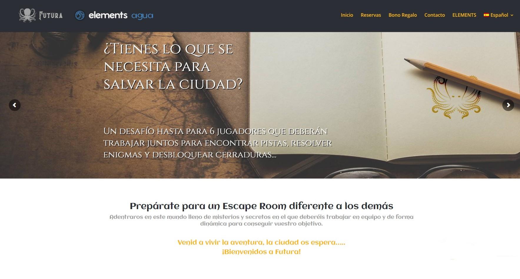 Desarrollo web para Escape Room